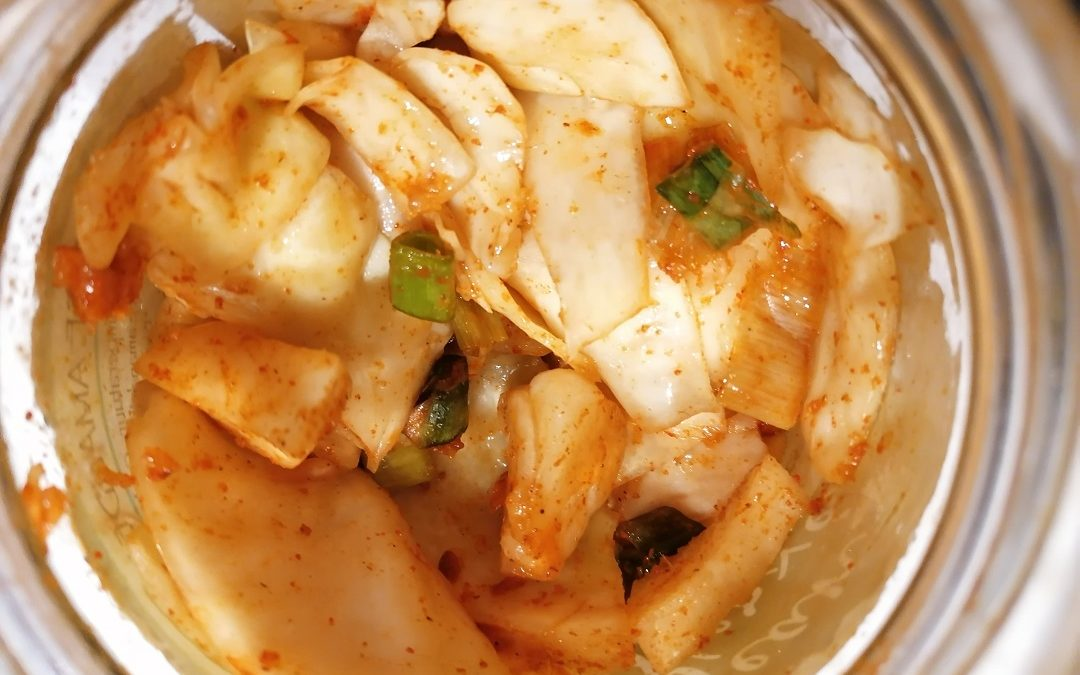 Un aliment riche en probiotiques : le kimchi (chou fermenté à la coréenne)